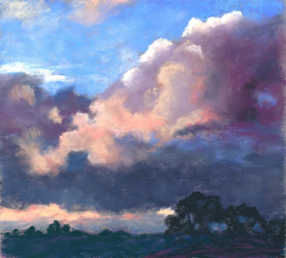 """Cloudbank at Sundown"" original fine art by Christine Derrick"
