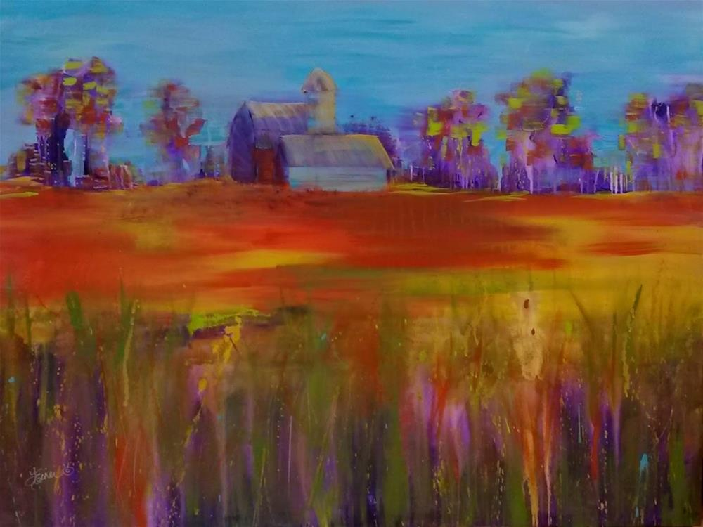 """Drive by Farm View-Day 12, 30 in 30"" original fine art by Terri Einer"
