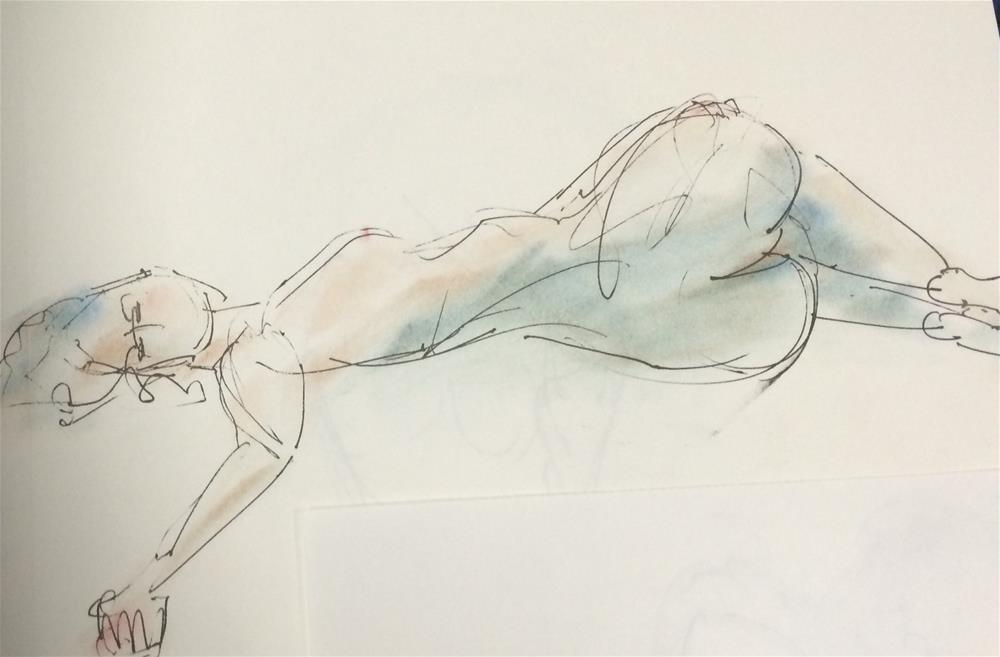 """Girl"" original fine art by Naomi Bautista"