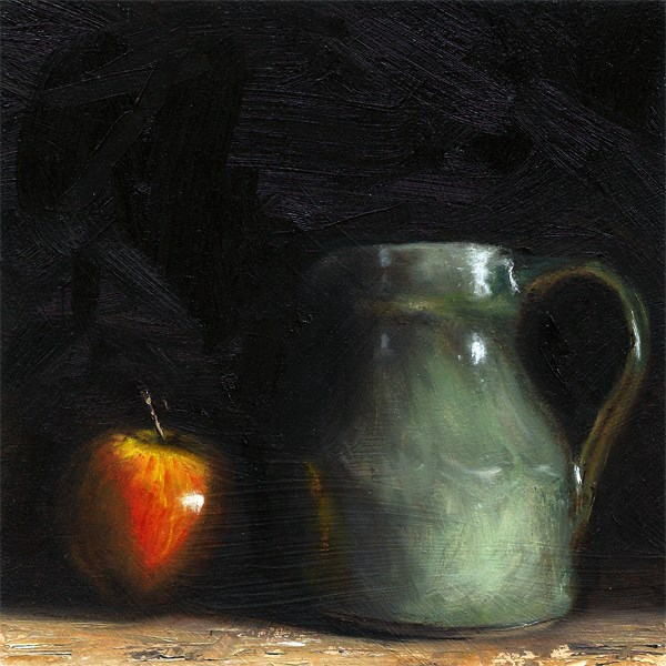 """Apple with cider jug"" original fine art by Peter J Sandford"