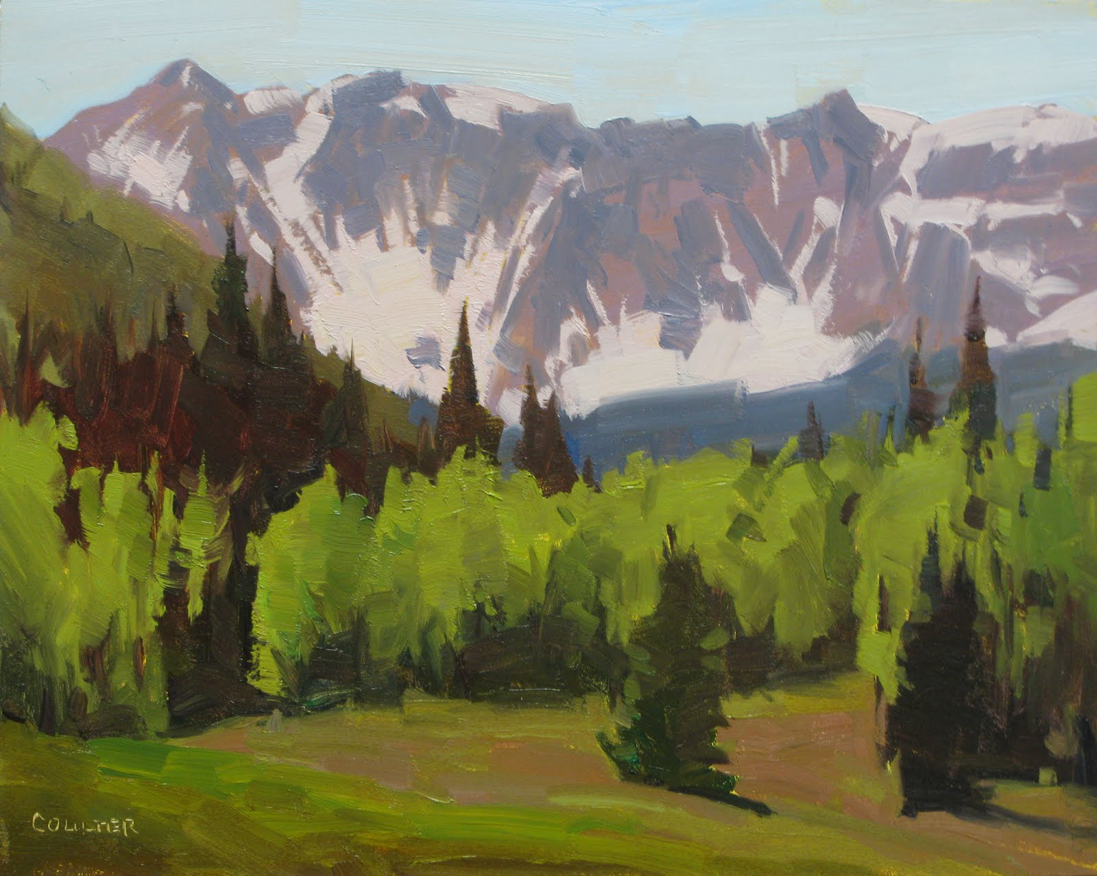 """TROUT LAKE MEADOW"" original fine art by James Coulter"