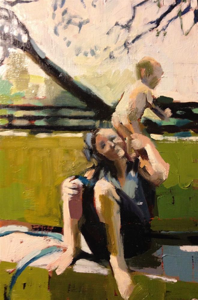 """Baby Launcher"" original fine art by Pamela Hoffmeister"