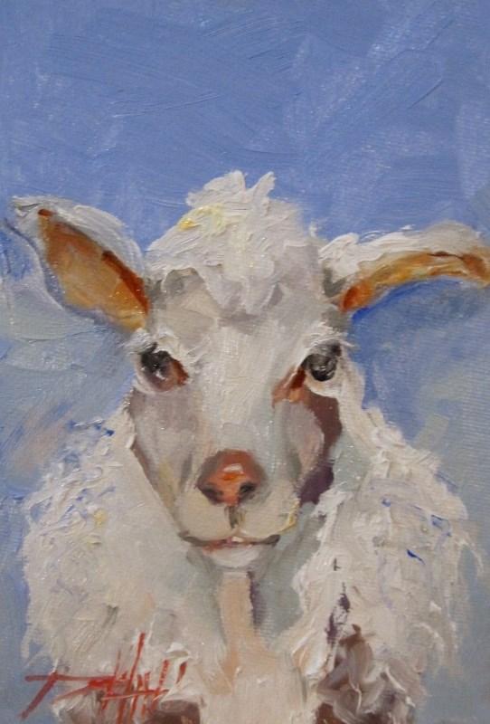"""Sheep"" original fine art by Delilah Smith"