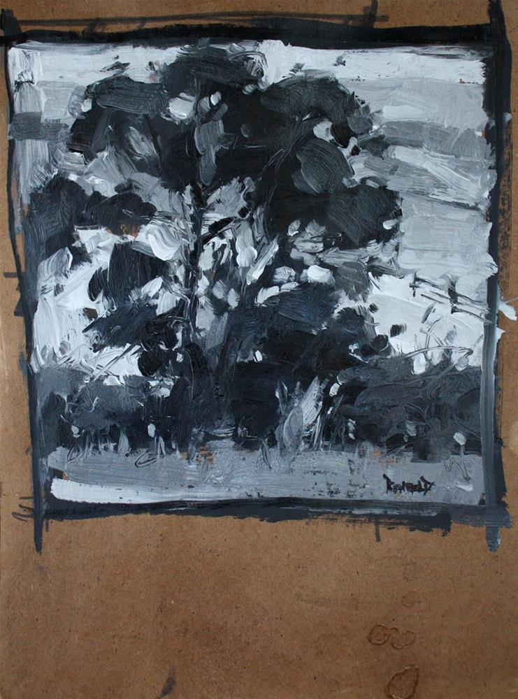 """Black and White Tree Study, The Dalles Mt Ranch"" original fine art by Cathleen Rehfeld"