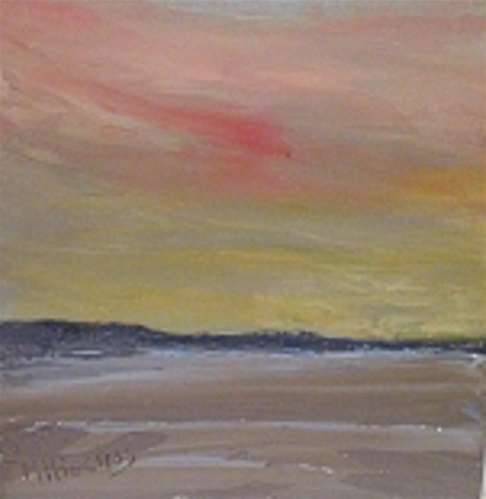 """SUNSET ON THE BEACH"" original fine art by Marie O' Higgins"