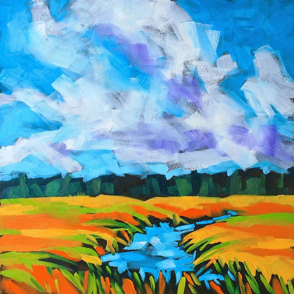 """Fall on the Marsh"" original fine art by Mary Anne Cary"