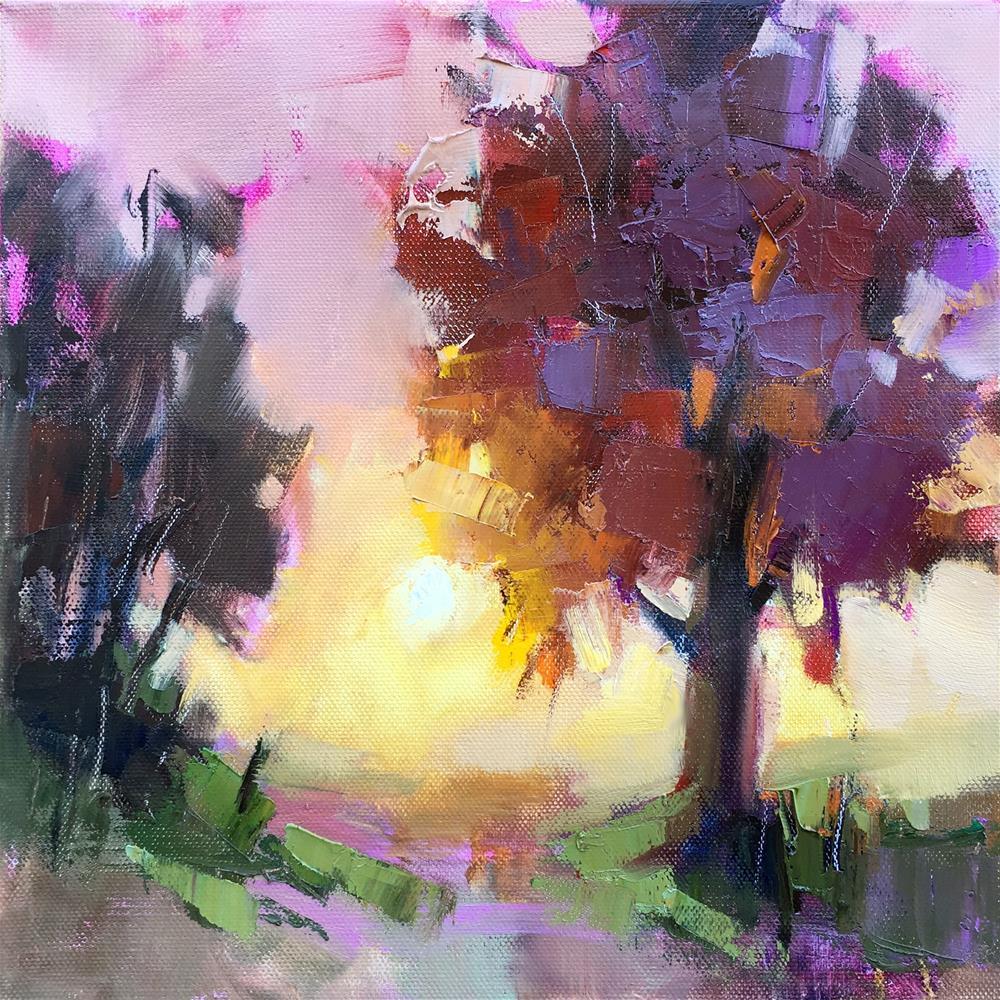 """The Pink Hour"" original fine art by Trisha Adams"