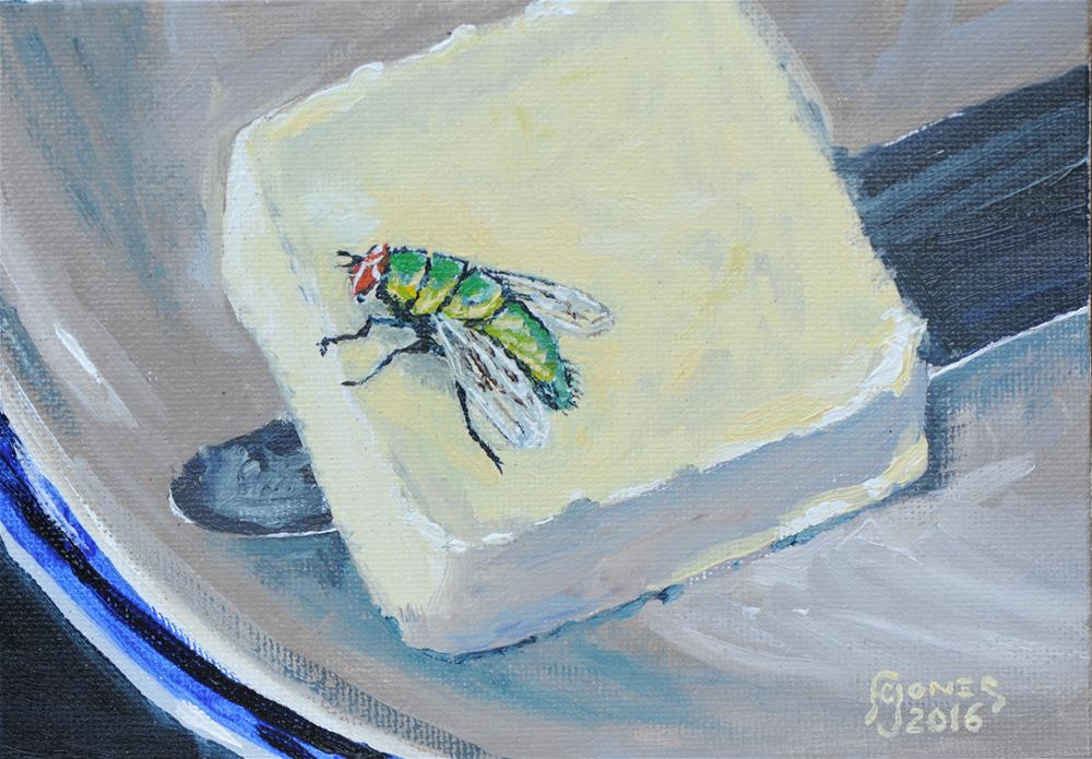"""Butter Fly"" original fine art by Fred Jones"