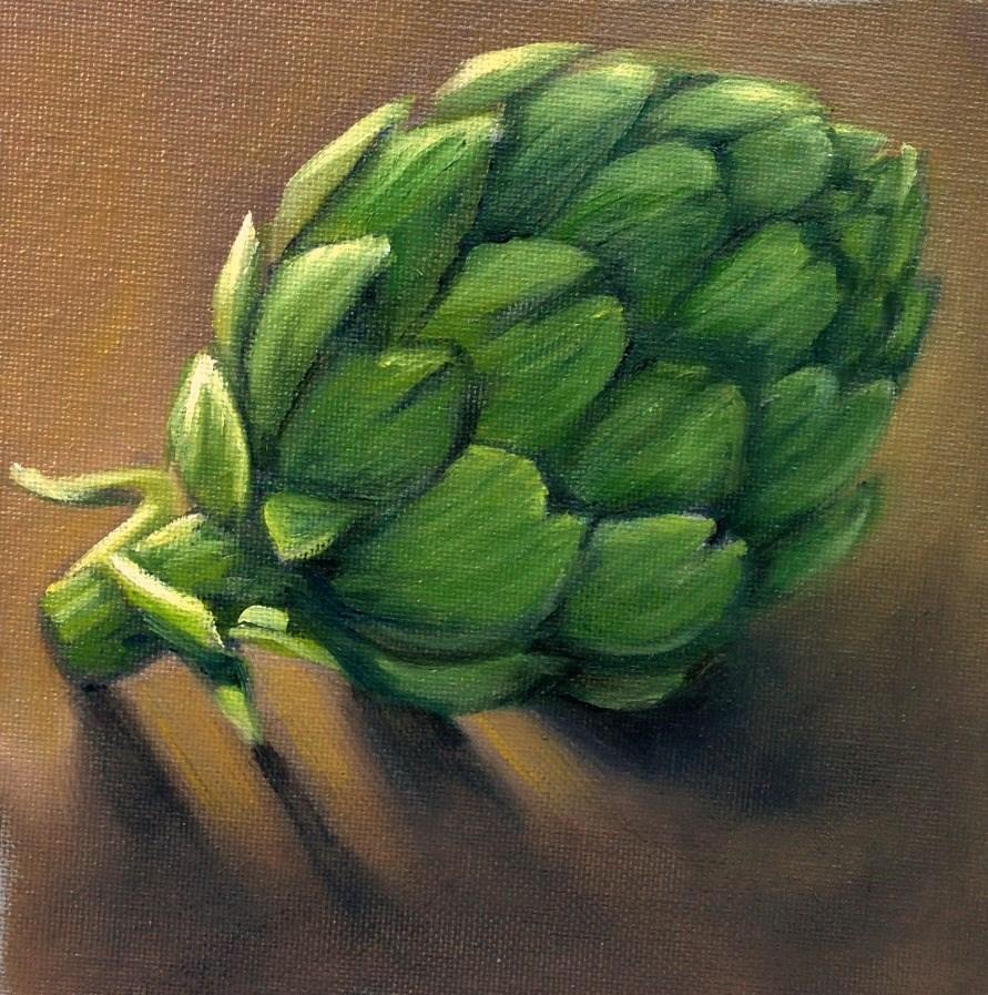"""Artichoke"" original fine art by Beth Moreau"