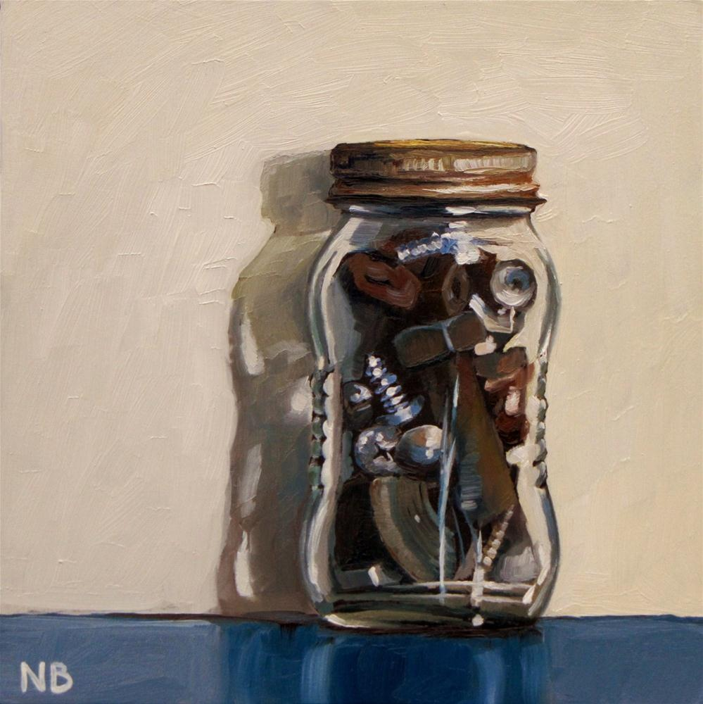 """Jar O Junk"" original fine art by Nora Bergman"