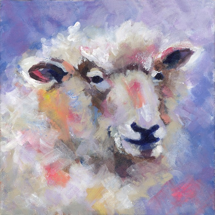 """Wise Woolly"" original fine art by Pamela Gatens"