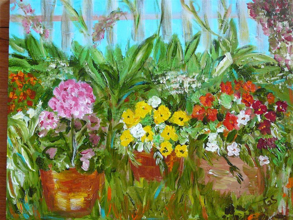 """My Backyard"" original fine art by Gabriella Spiegel"