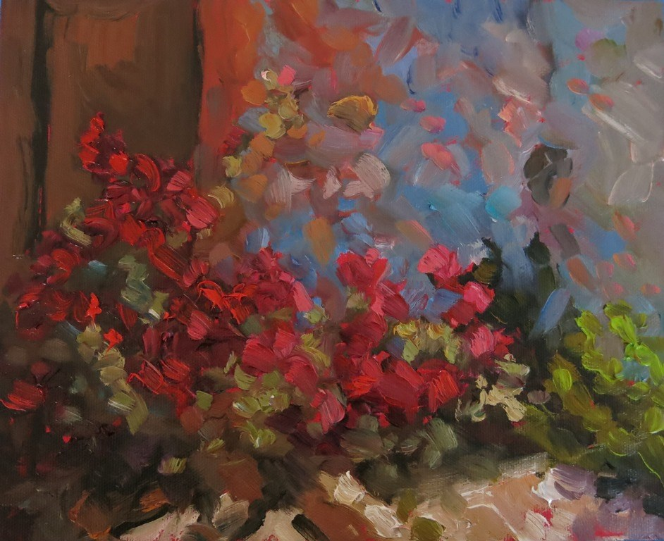 """CHIMAYO ROSES"" original fine art by Dee Sanchez"