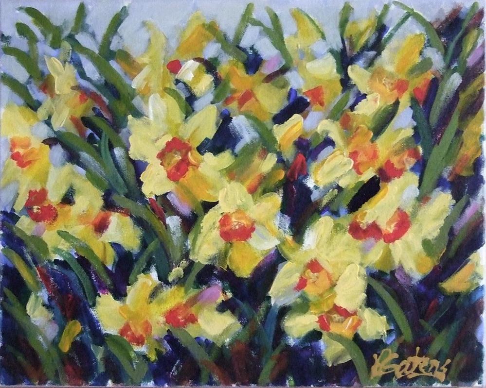 """Daffodil Valley"" original fine art by Pamela Gatens"