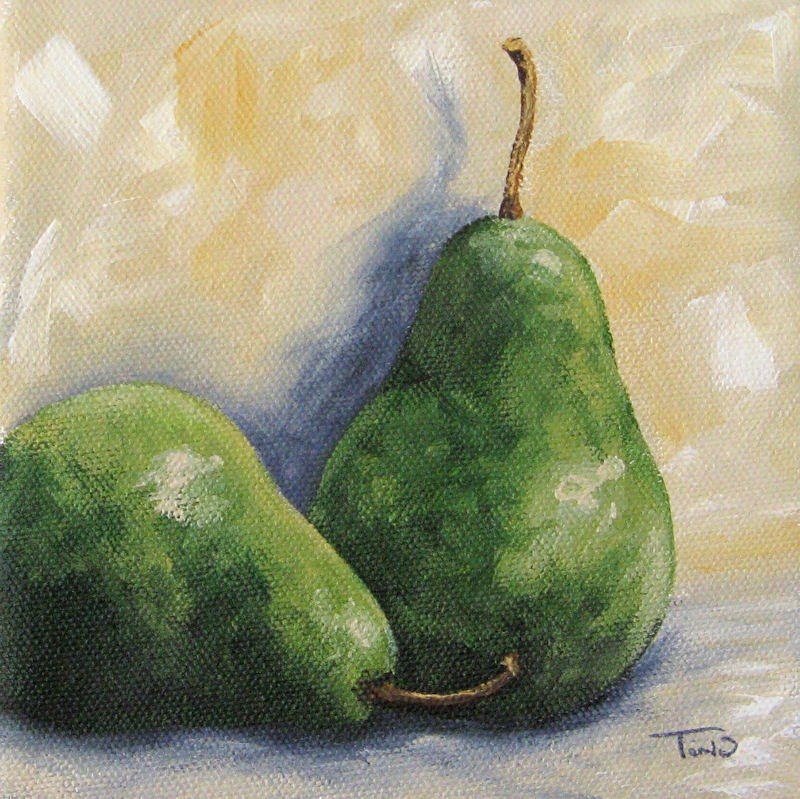 """Pear Duet"" original fine art by Torrie Smiley"