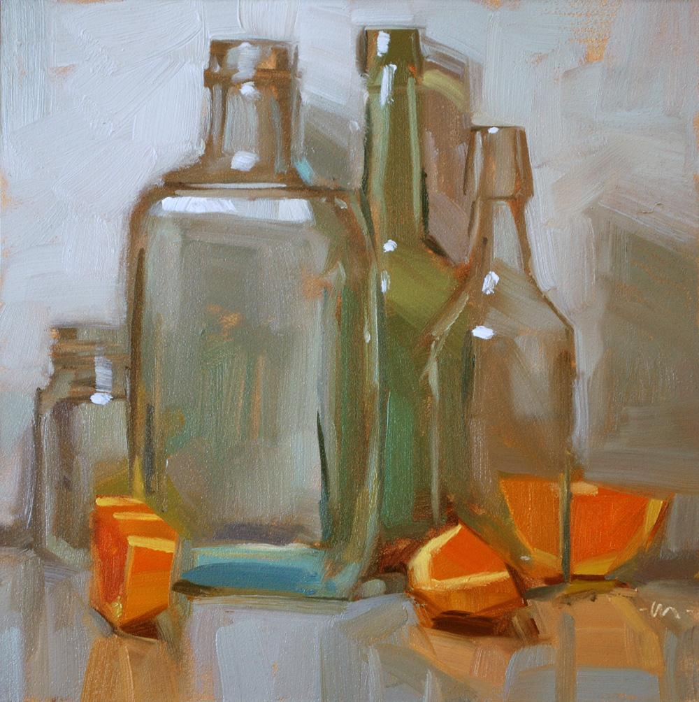 """Empties Reflected"" original fine art by Carol Marine"