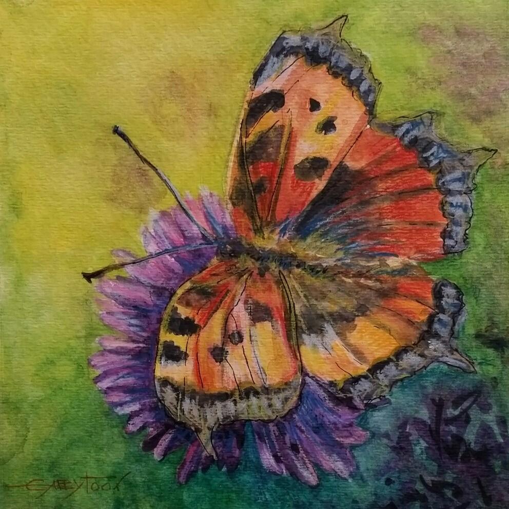"""Butterfly"" original fine art by Gabriella DeLamater"