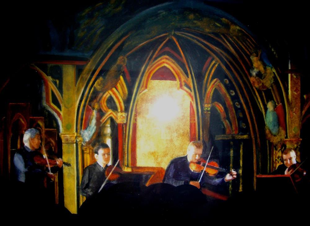"""""""Quartet in a Chapel"""" original fine art by Gloria  Nehf"""