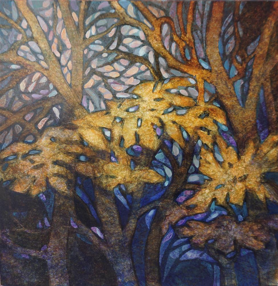 """Autumn Leaves"" original fine art by Larisa Nikonova"