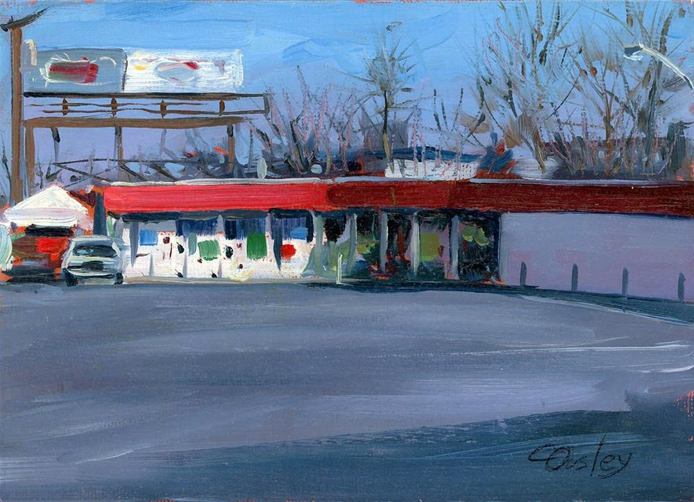 """Market on Murfreesboro Road"" original fine art by Chris Ousley"