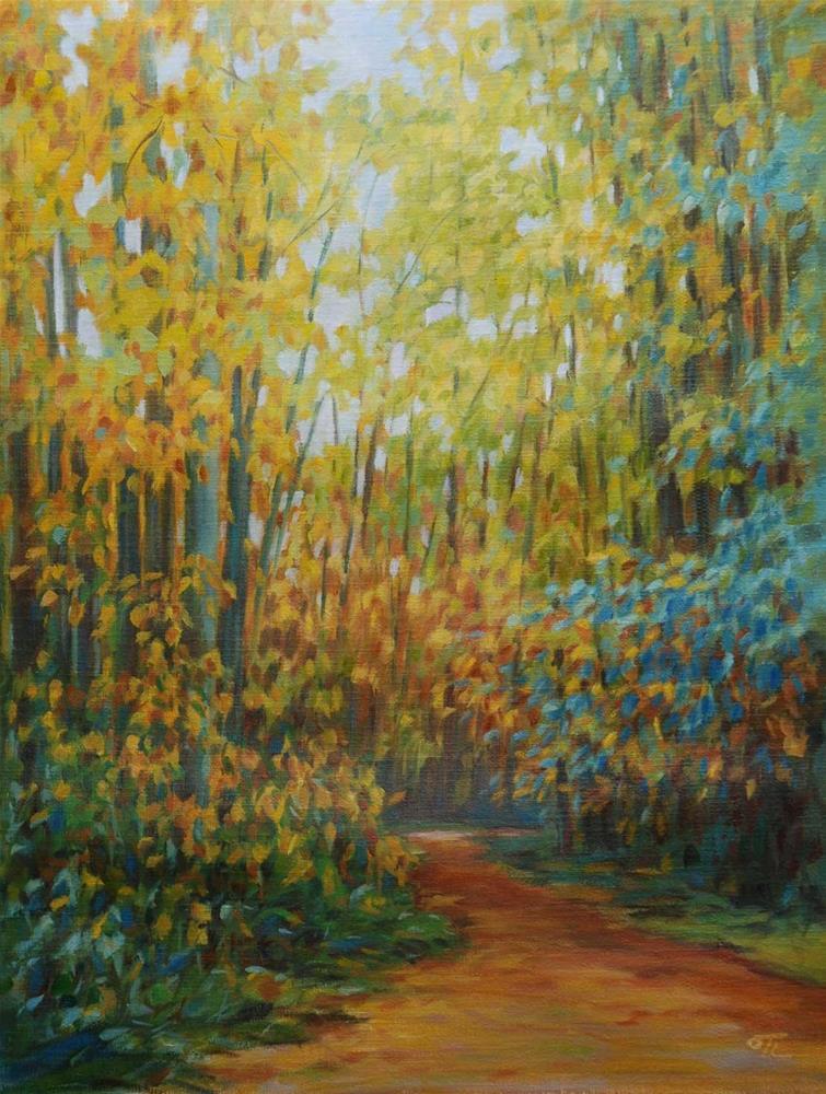 """Tremblay in autumn"" original fine art by Olga Touboltseva-Lefort"