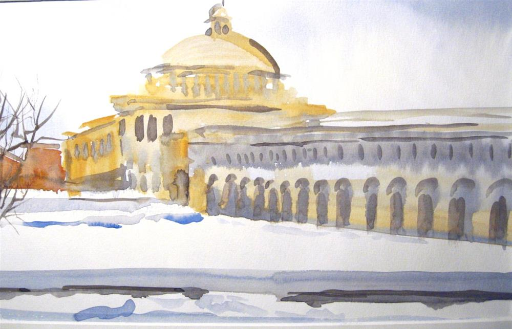 """Boston Winter"" original fine art by Judith Freeman Clark"