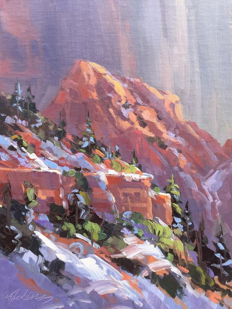 """Spring Snow - Kolob Canyons"" original fine art by Mary Jabens"