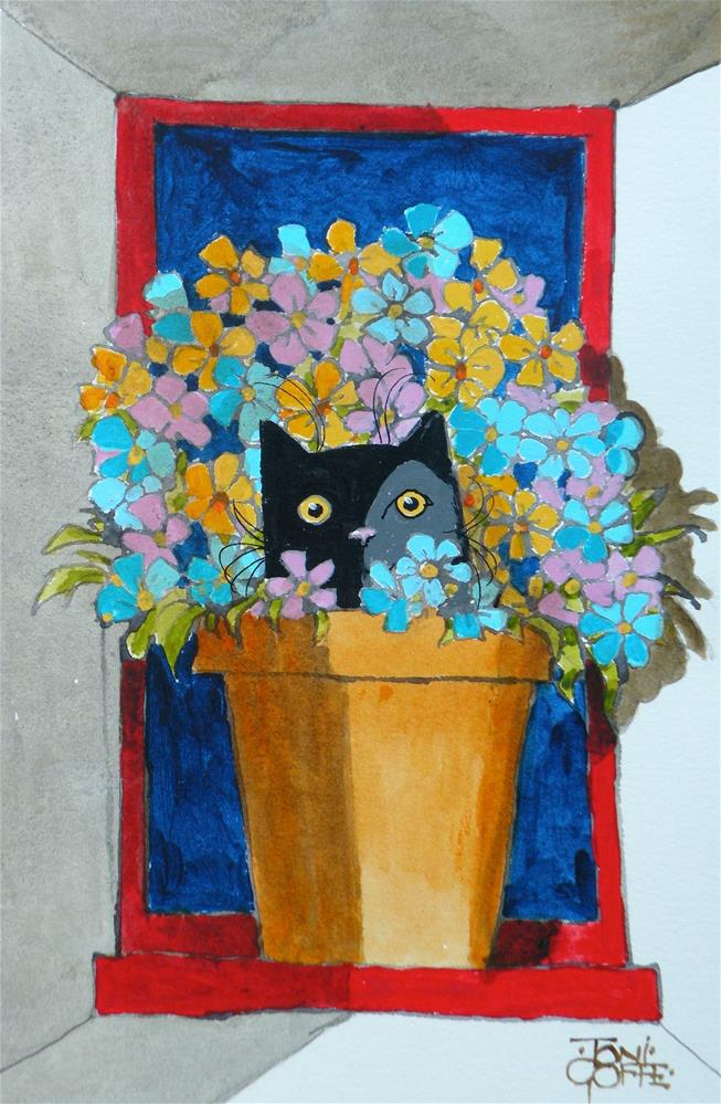 """Flowerpot Refuge"" original fine art by Toni Goffe"