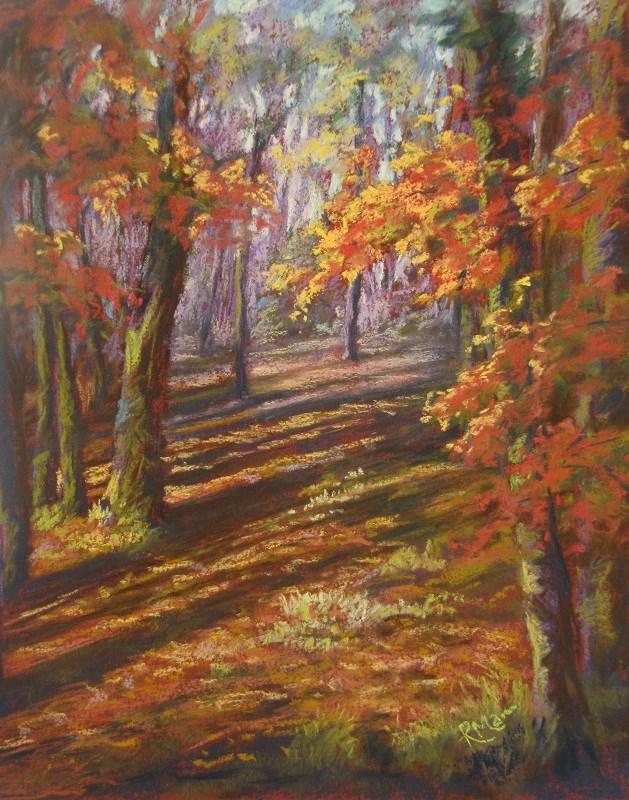"""Autumn Wood"" original fine art by Ruth Mann"