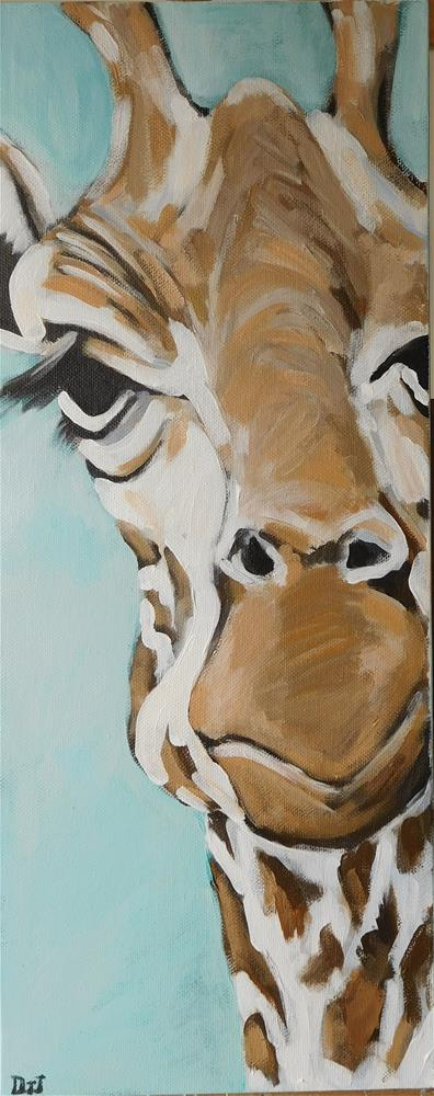 """G is for Giraffe"" original fine art by Daryl West"