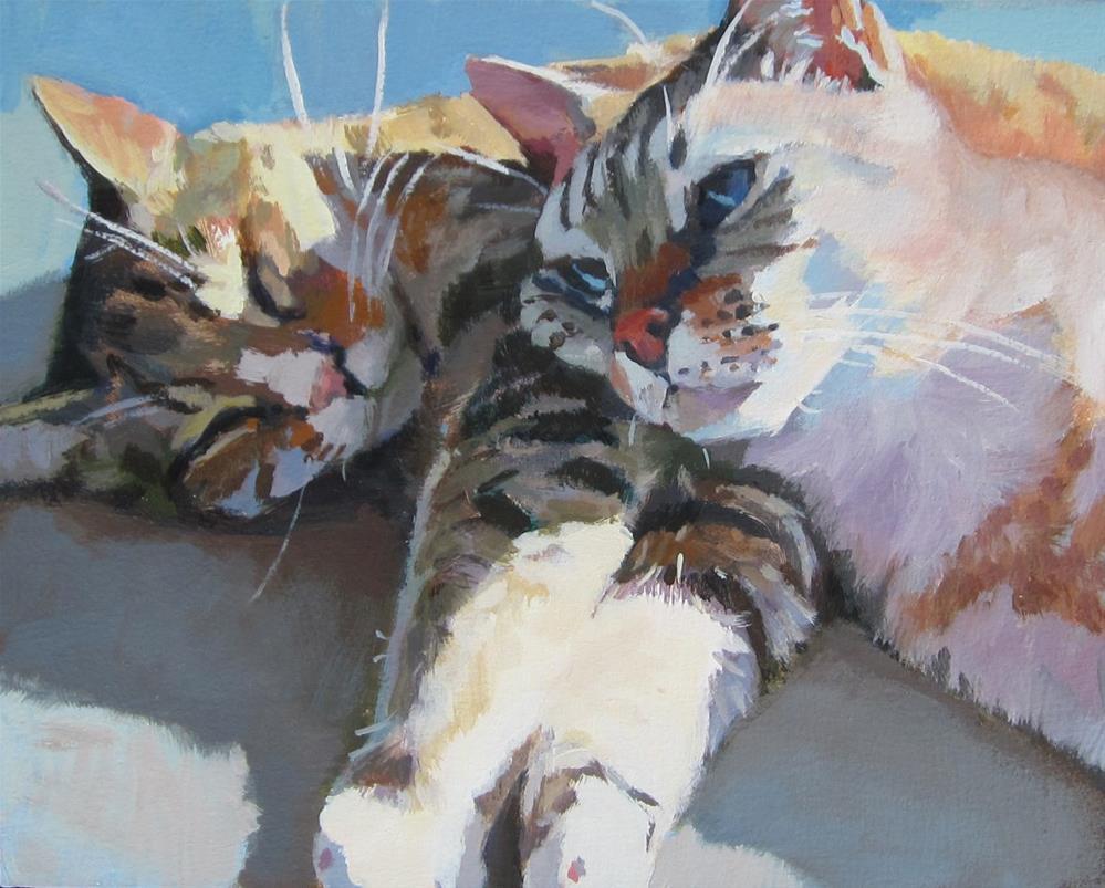 """Cat Nap"" original fine art by Kaethe Bealer"