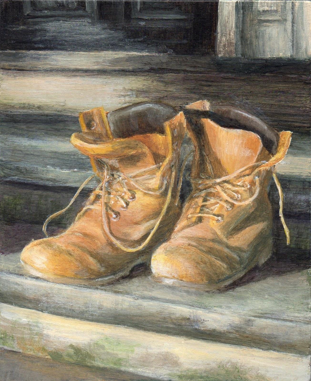 """Old Friends"" original fine art by Debbie Shirley"