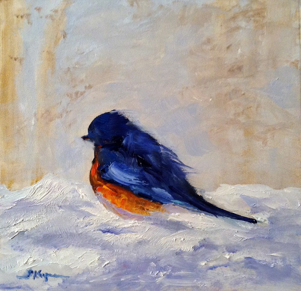 """Bluebird Up Close and Personal"" original fine art by Shelley Koopmann"