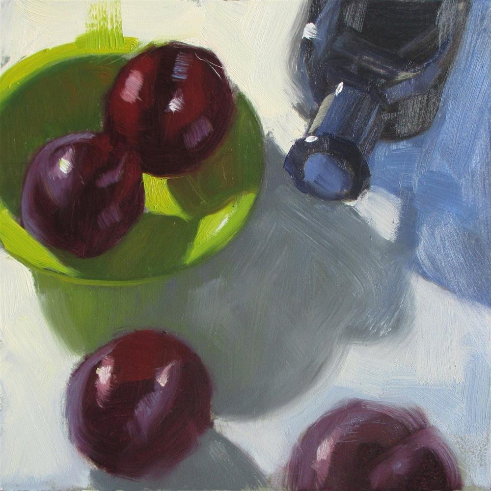 """Move Over  6in x 6in  oil"" original fine art by Claudia Hammer"