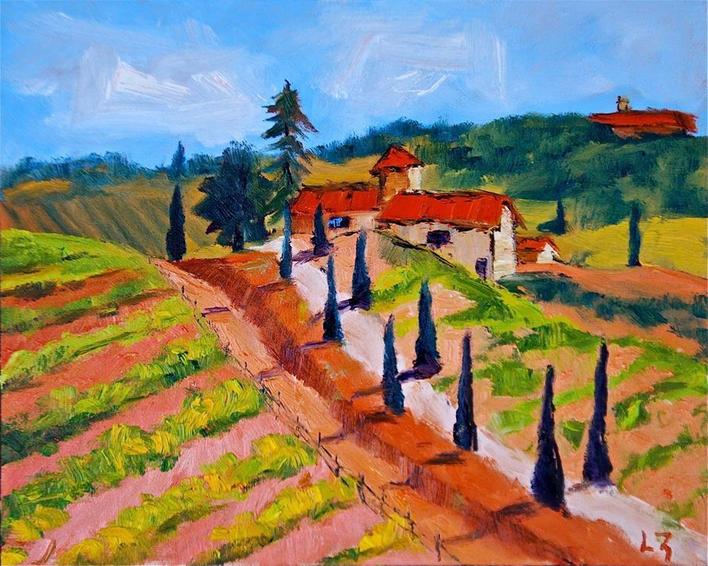 """Tuscan Farm"" original fine art by Liz Zornes"