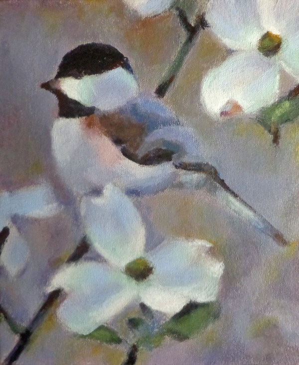 """Chickadee 2"" original fine art by Maria Z."