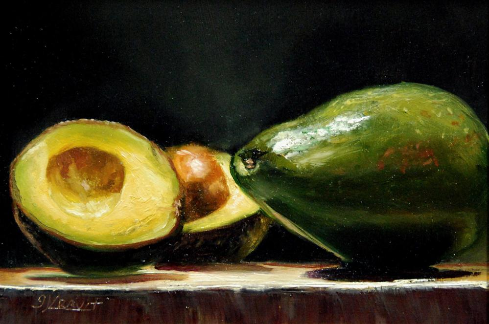 """Avocados"" original fine art by Garry Kravit"