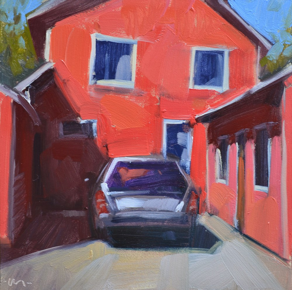 """Cozy Parking"" original fine art by Carol Marine"