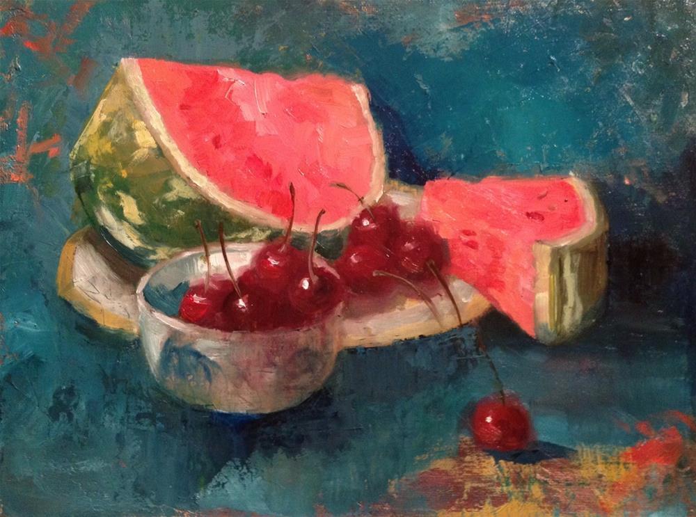 """Juicy Fruits"" original fine art by Barbara Fluty"
