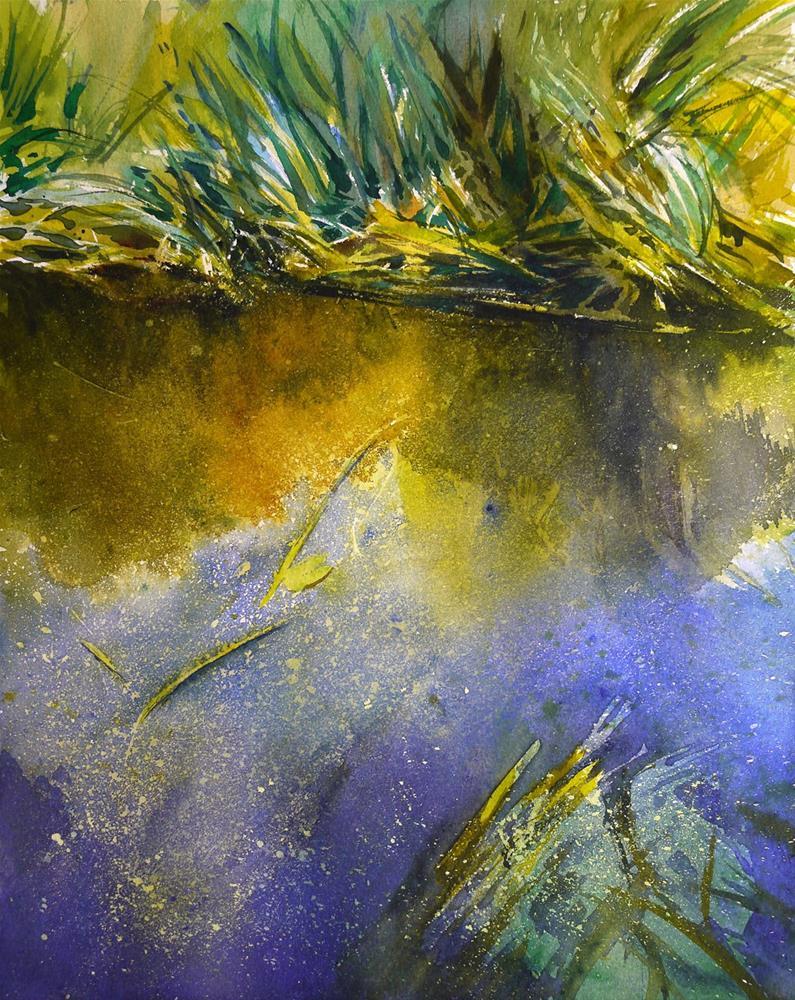 """duckweed"" original fine art by Beata Musial-Tomaszewska"