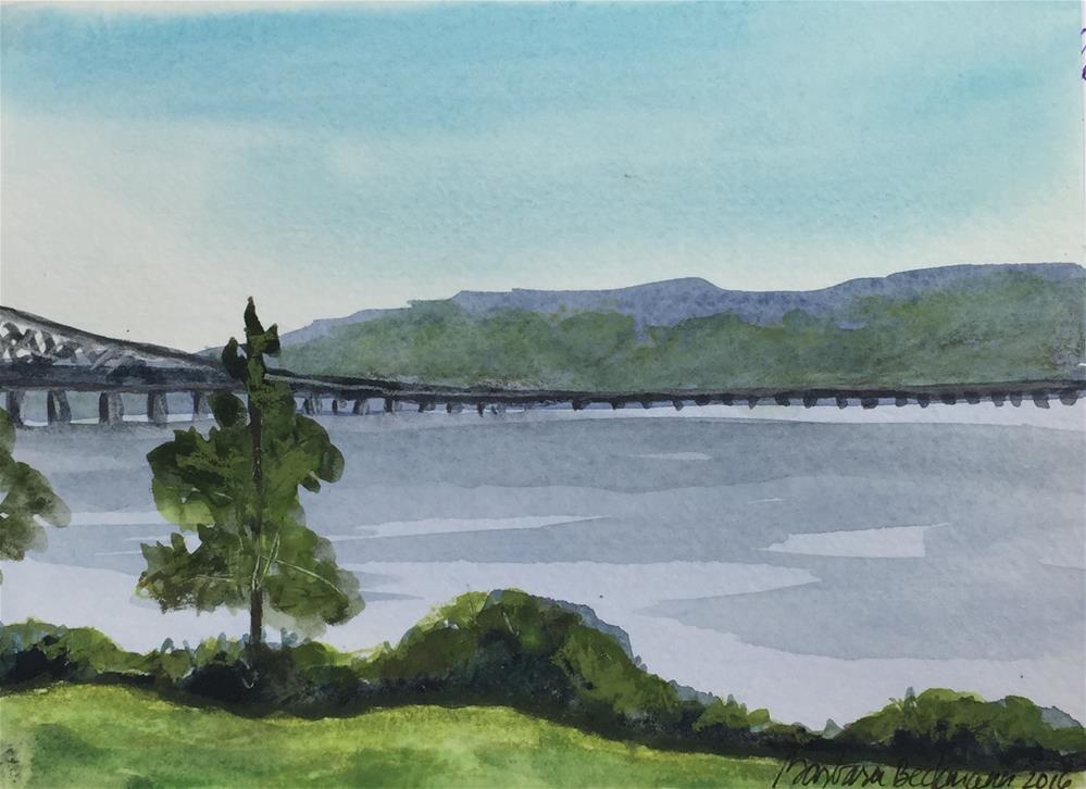 """Hudson River watercolor"" original fine art by Barbara Beckmann"