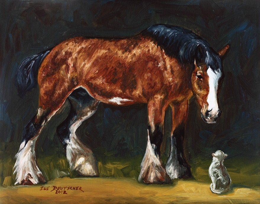 """""""Clydesdale"""" original fine art by Sue Deutscher"""