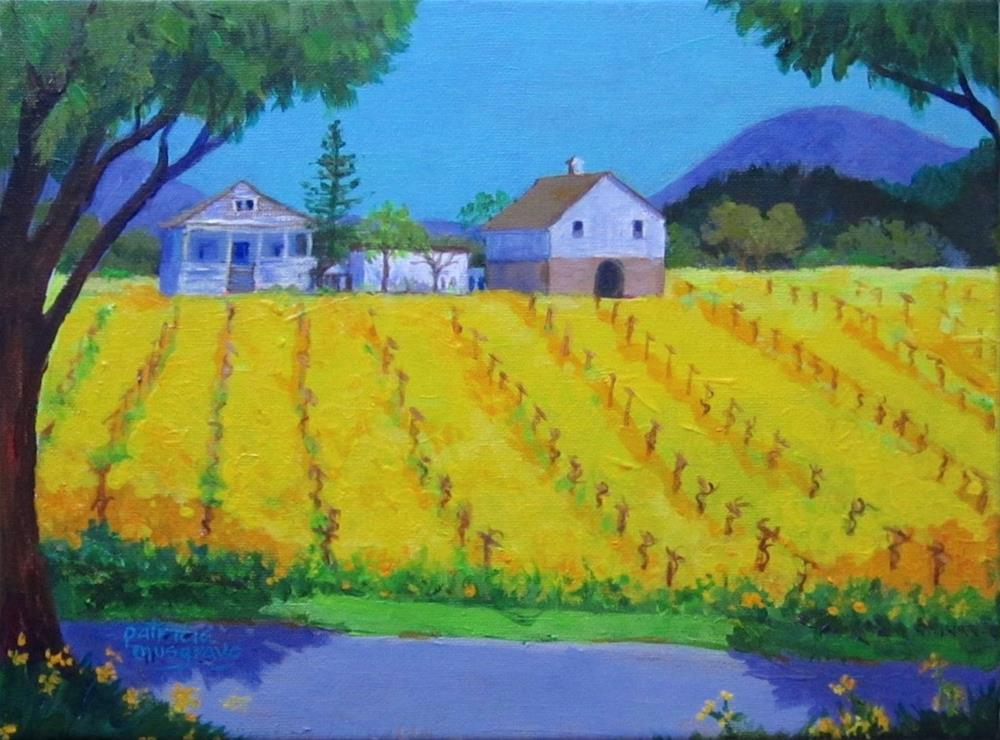 """The Cover Crop"" original fine art by Patricia Musgrave"