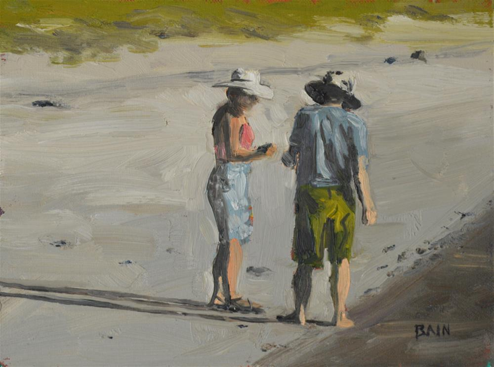 """Beach Combers #1"" original fine art by Peter Bain"