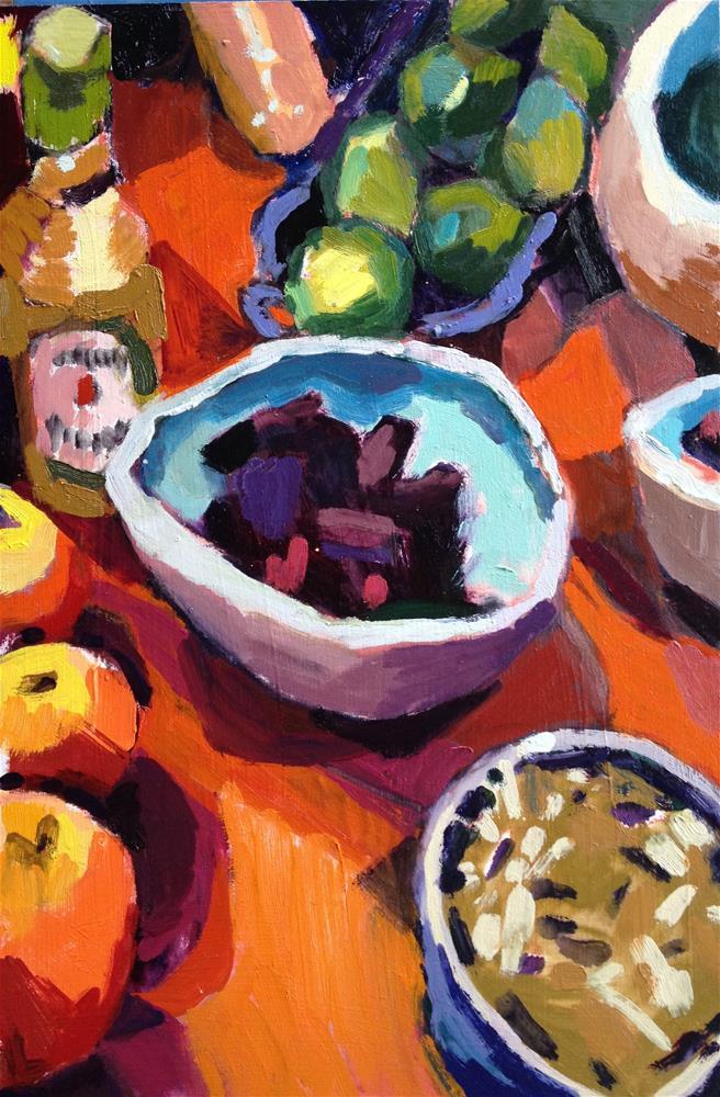 """Sister Salad"" original fine art by Pamela Hoffmeister"