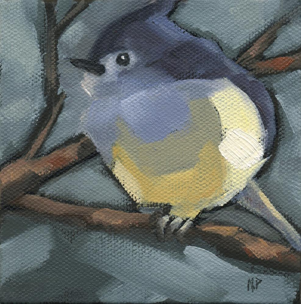 """SOLD - Titmouse Camo"" original fine art by Nancy Parsons"