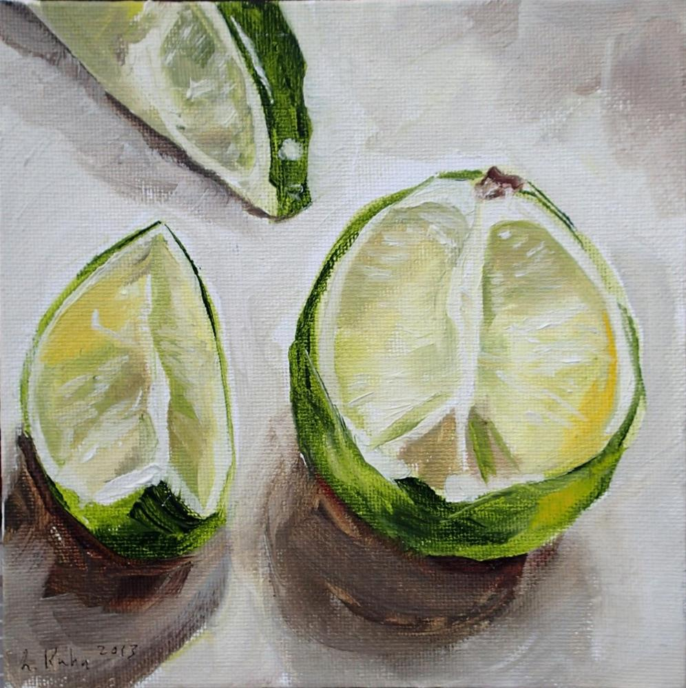 """Lazy Limes"" original fine art by Lauren Kuhn"