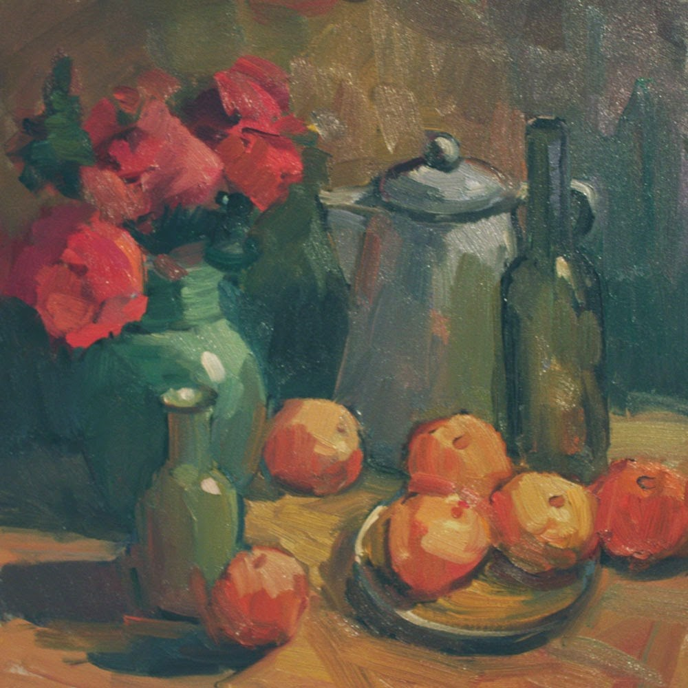 """Still Life with Apples"" original fine art by Kathryn Townsend"