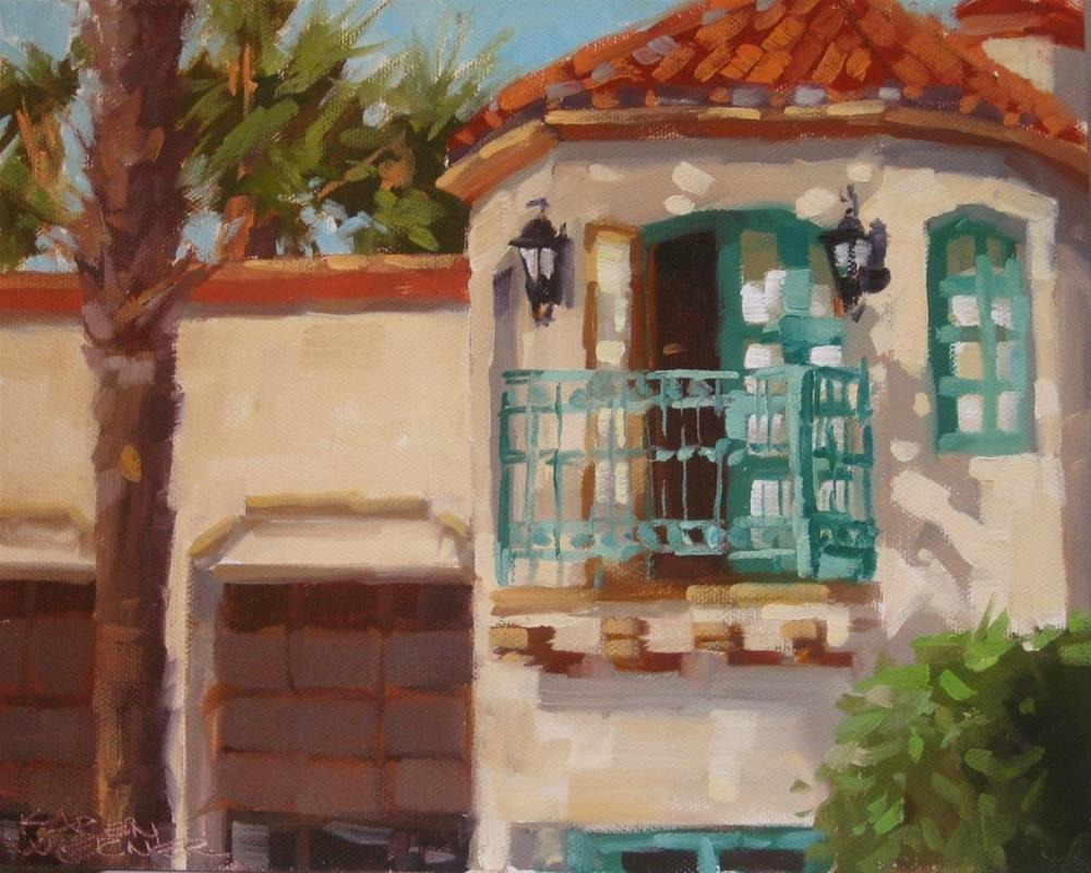 """Fancy Firehouse"" original fine art by Karen Werner"