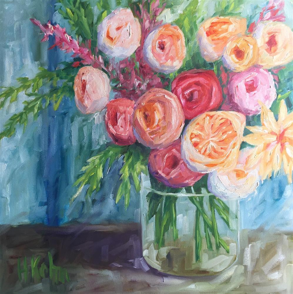 """""""Large Floral"""" original fine art by Hallie Kohn"""